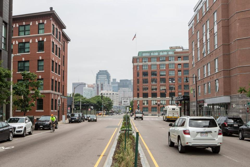 06/16/2015 BOSTON, MA Dorchester Avenue where an Olympic Avenue for 2024 as been proposed. (Aram Boghosian for The Boston Globe)